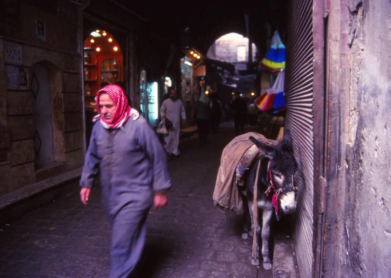 Scene in an Aleppo souq (covered bazaar) in 1995