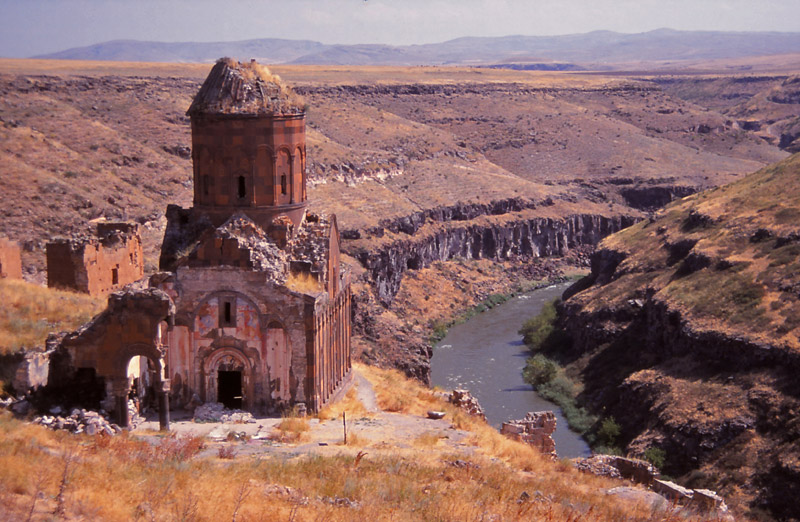 The Church of St Gregory the Illuminator was built in 1215AD in Ani, then a teeming Armenian city