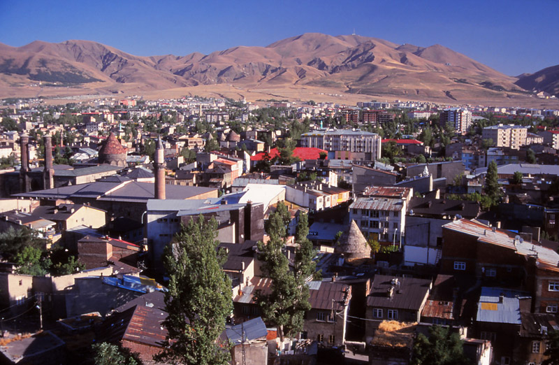 The eastern city of Erzurum as seen from the citadel
