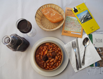 Asturian bean stew makes ideal hiking fuel