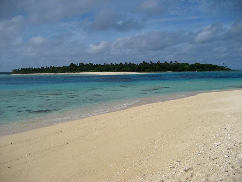 Uninhabited Nukunamo Island as seen from the slightly inhabited Foa Island