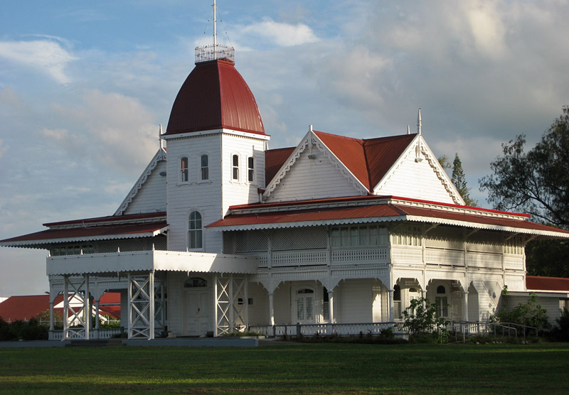 The Royal Palace in Nuku'alofa was built in 1867