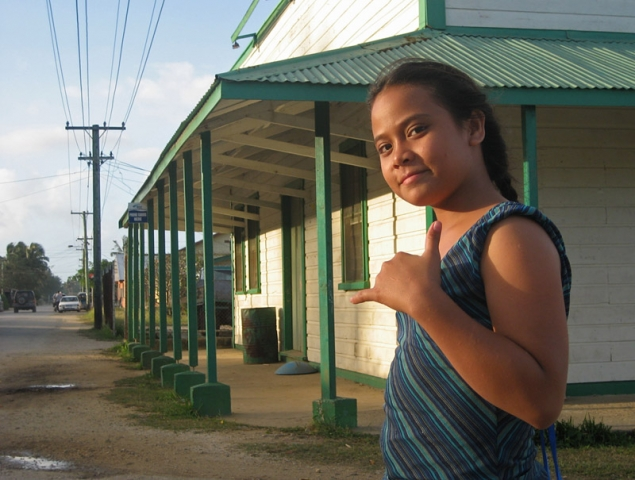 Girl on the main street of Pangai in the Ha'apai Islands