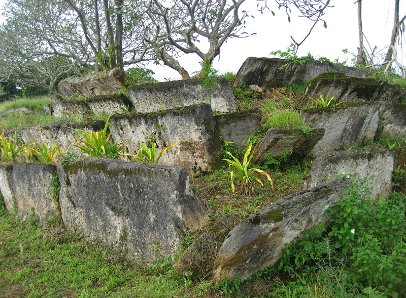 Ancient tomb in Lapaha, site of an earlier Tongan capital