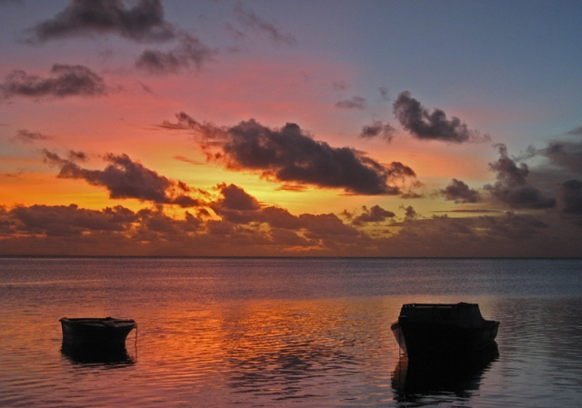 Sunset at Pangai, Ha'apai Islands