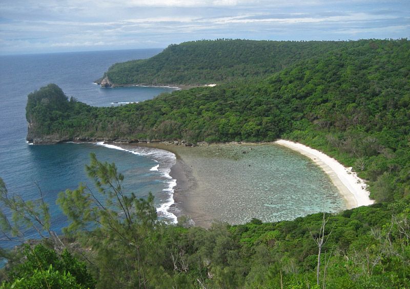 'Utula'aina Point on the northern coast of Vava'u Island