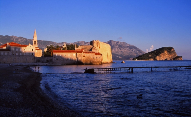 Montenegro, 1999: Budva, an ancient walled city on the Adriatic coast