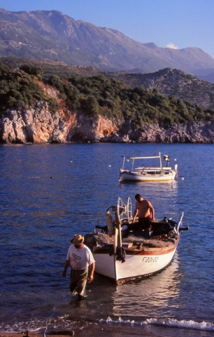 Montenegro, 1999: Fishermen bring in their catch