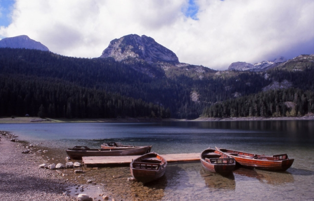 Montenegro, 1999: Crno Jezero (Black Lake) in Durmitor National Park