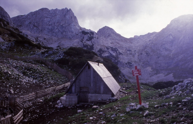 Montenegro, 1999: A cowherd's hut high in Durmitor National Park