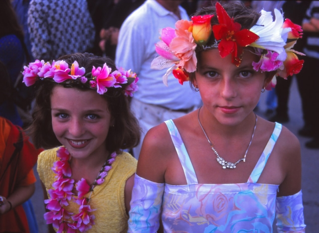 Montenegro, 1999: Children in Ulcinj at a UNHCR-organised festival after the Kosovo War