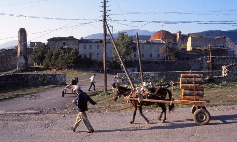 A street scene in Akhaltsikhe