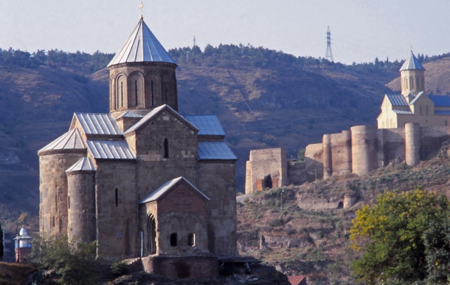 Metekhi Church in Tbilisi was built in the 1270s, used as a prison in the 1930s, and restored in the 1980s