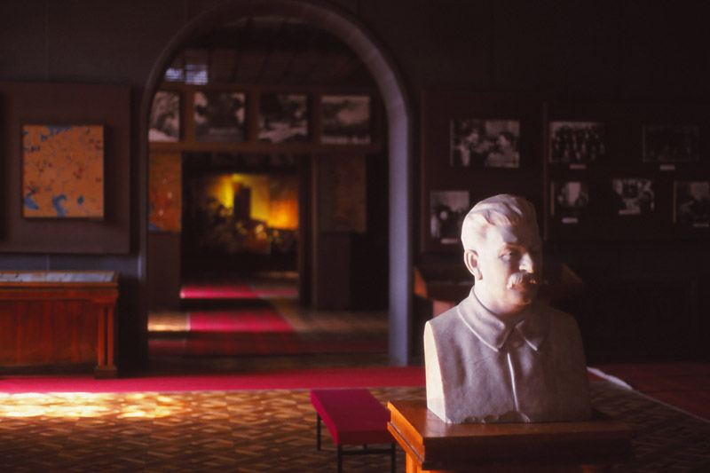 Inside the Stalin Museum in Gori, the Soviet dictator's birthplace