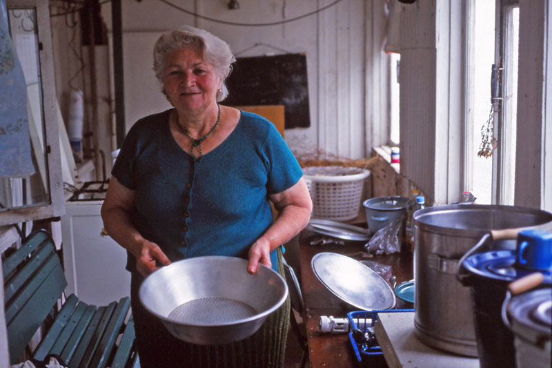 My hostess in Kazbegi, the kind-hearted Venera Sujashvili