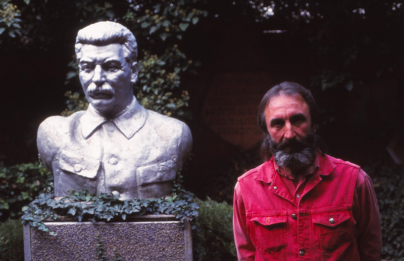 Temuri Kunelauri has spent 27 years turning his garden in village of Akhal Sopeli into a shrine to Stalin