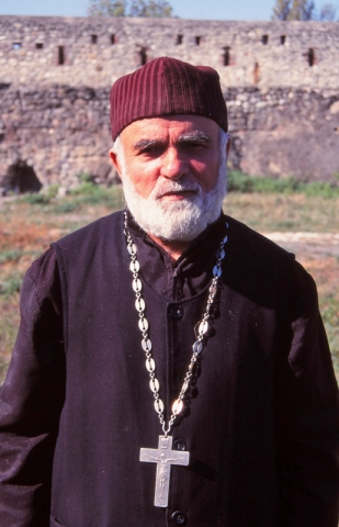 A priest at Alaverdi Monastery in eastern Georgia