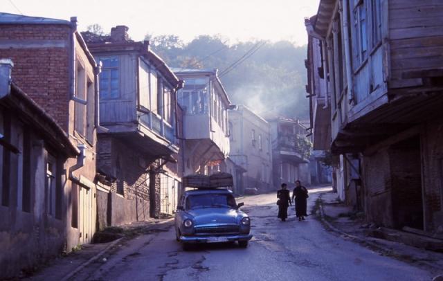 Street scene in Sighnaghi