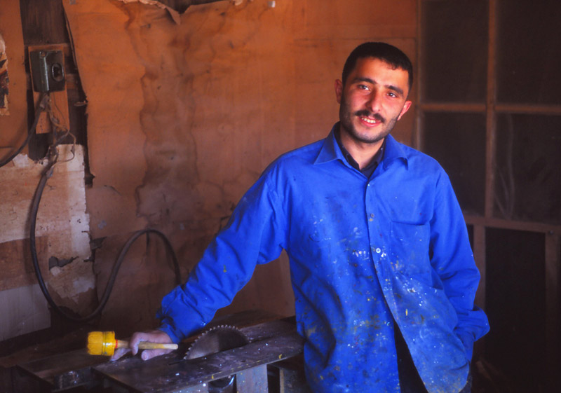 Craftsman at work in a Şeki bazaar