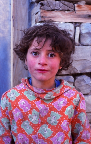 A village girl in Lahıc