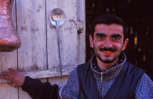 Coppersmith Elgiz Ismayilov flashes a 24-carat smile