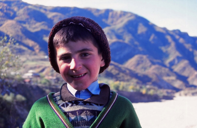 A schoolboy in Lahıc