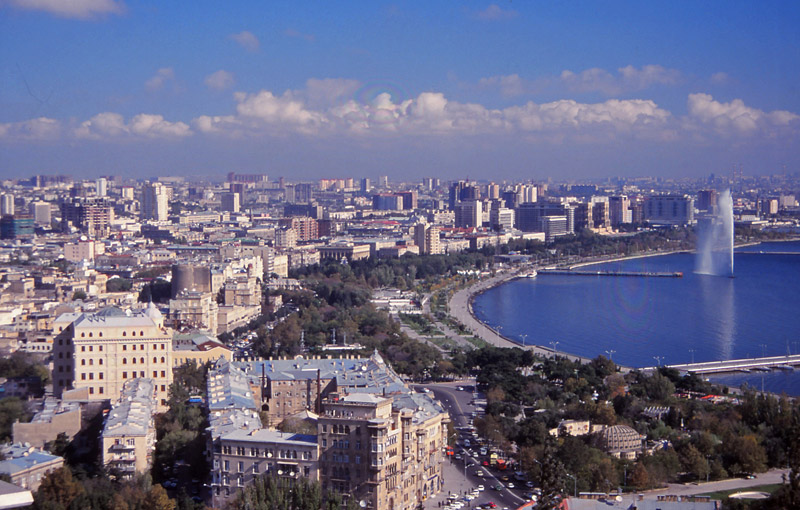 The Azerbaijani capital Baku, which oil wealth has since transformed beyond recognition