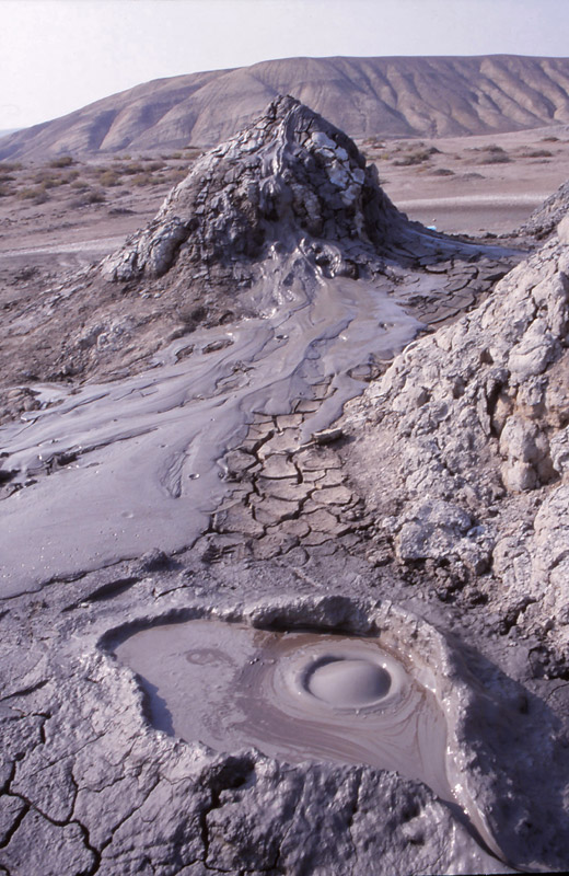 "Mud ""volcanoes"" bubble and ooze at Qobustan"