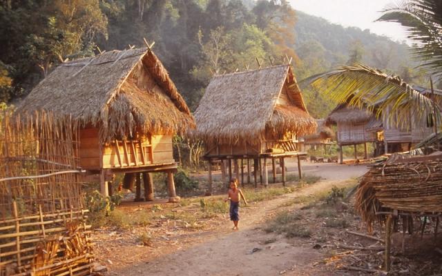 Ban Nalan Neua village (population 165) in Luang Nam Tha National Protected Area