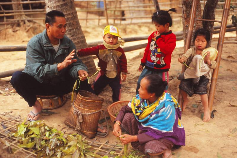 A Lowland Lao family in Sopkhan village