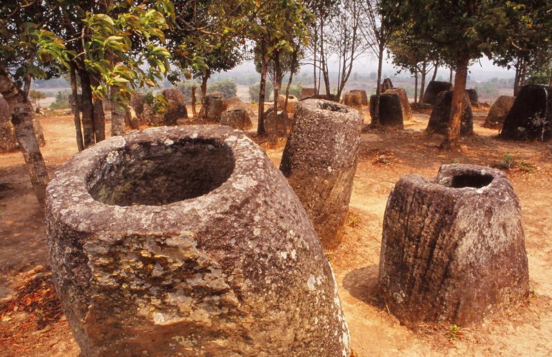 Mysterious, ancient stone urns litter the Plain of Jars in eastern Laos