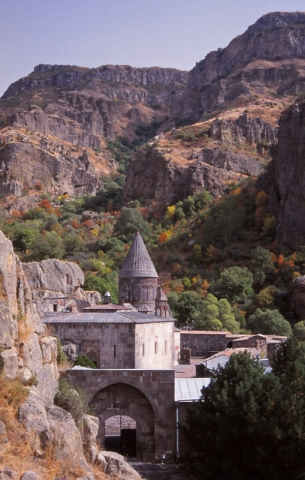 According to legend Geghard Monastery was founded in the 4th century