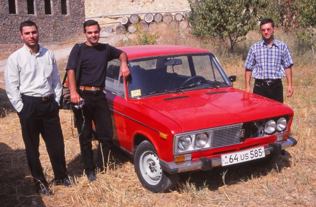 Dmitri, Arman and Hovik, the trio who gave me a lift when I gave up on the minibus