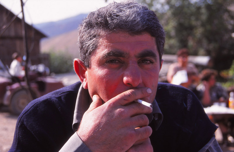 Smoko time at Armenia's first National Wine Festival. Photo: Peter de Graaf