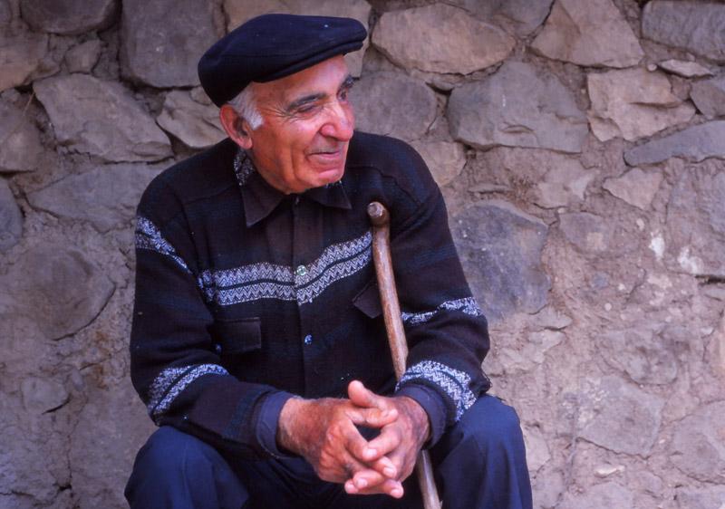 A village elder takes a break in Areni