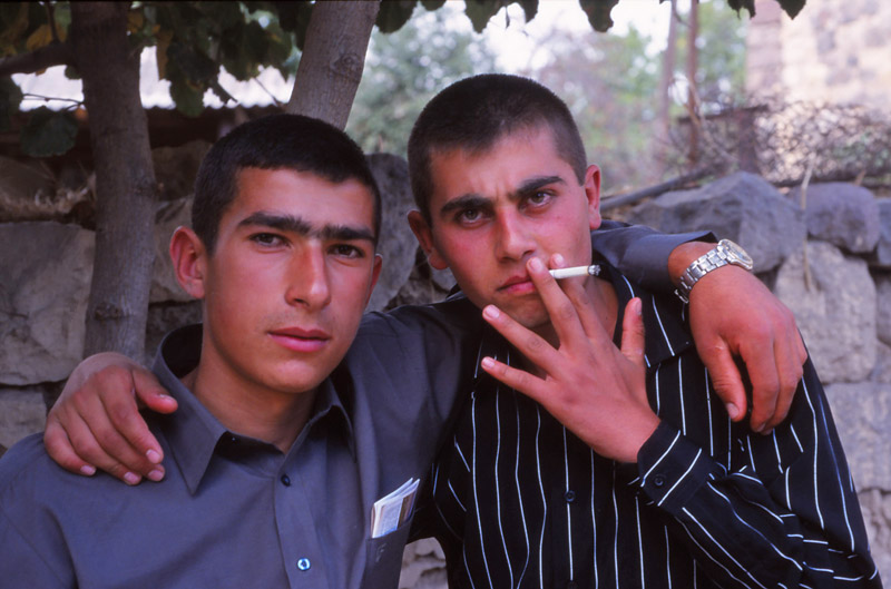 Boys from Areni village, venue of Armenia's first National Wine Festival
