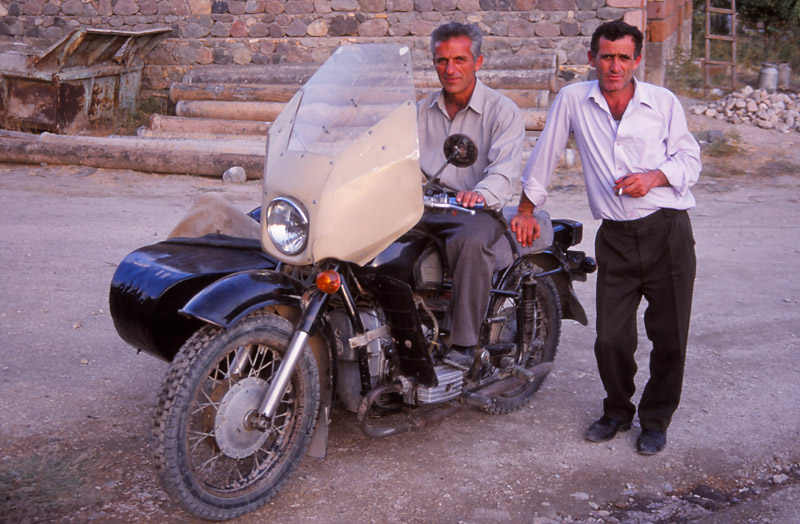 When my pack was accidentally locked inside a winery this gentleman drove me all around Areni on his vintage Dnieper motorcycle to find the key