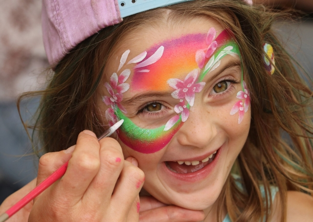 March: Five-year-old Coco gets her face painted at Kaeo's Ngā Purapura Festival. Photo: Peter de Graaf