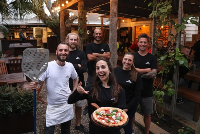 September: Staff at Hōne's Garden, a pizza restaurant in Russell, celebrate their win in the Northland Hospitality Awards. Photo: Peter de Graaf