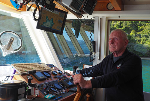 Affinity skipper Brian Appleby at the helm.