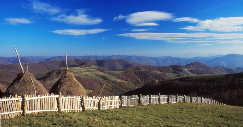 Landscape in the Banat Mountains near Rovensko