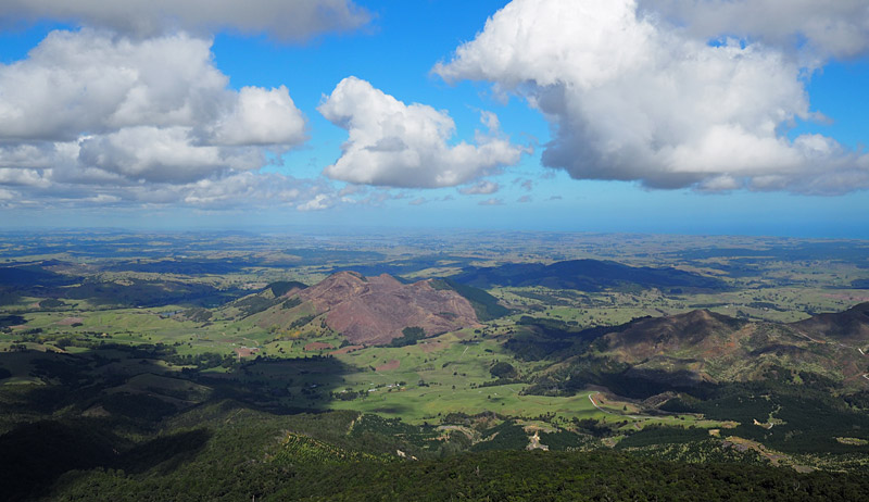 View across the Kaipara District from the top of Tutamoe.