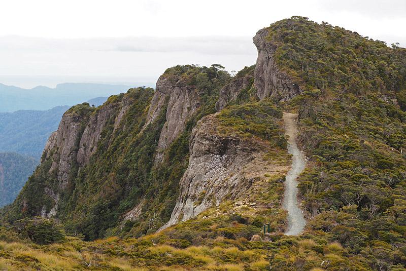 The track follows the edge of the 3km-long Pike Escarpment