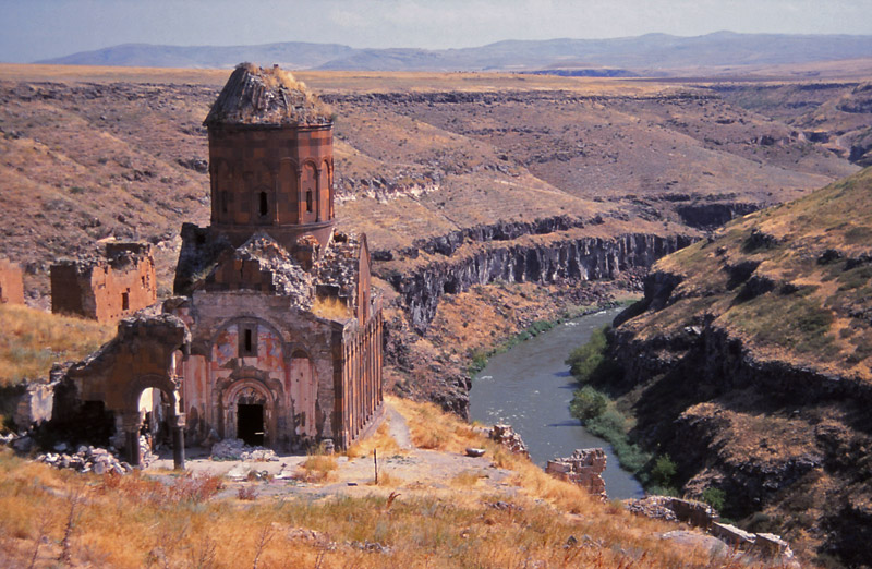 The Church of St Gregory of Tigran Honents, completed in 1215, is the best-preserved monument in Ani