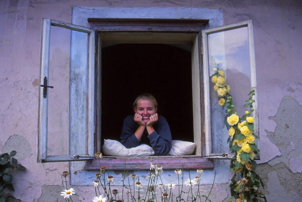 Bára at her family cottage in Novohradské hory, South Bohemia