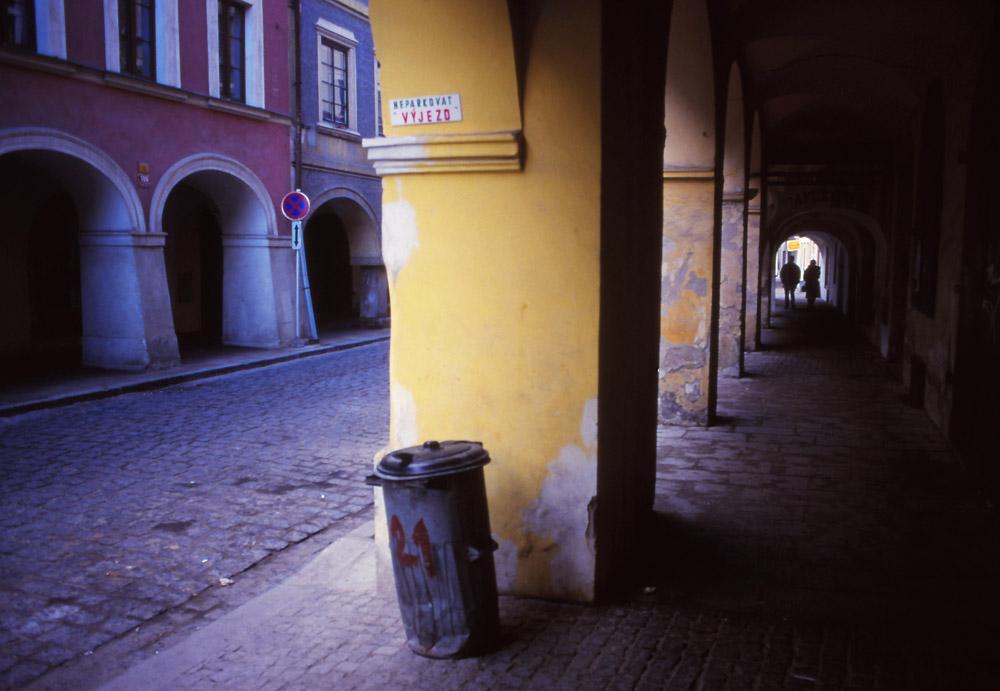 Scene on Česká Street in České Budějovice