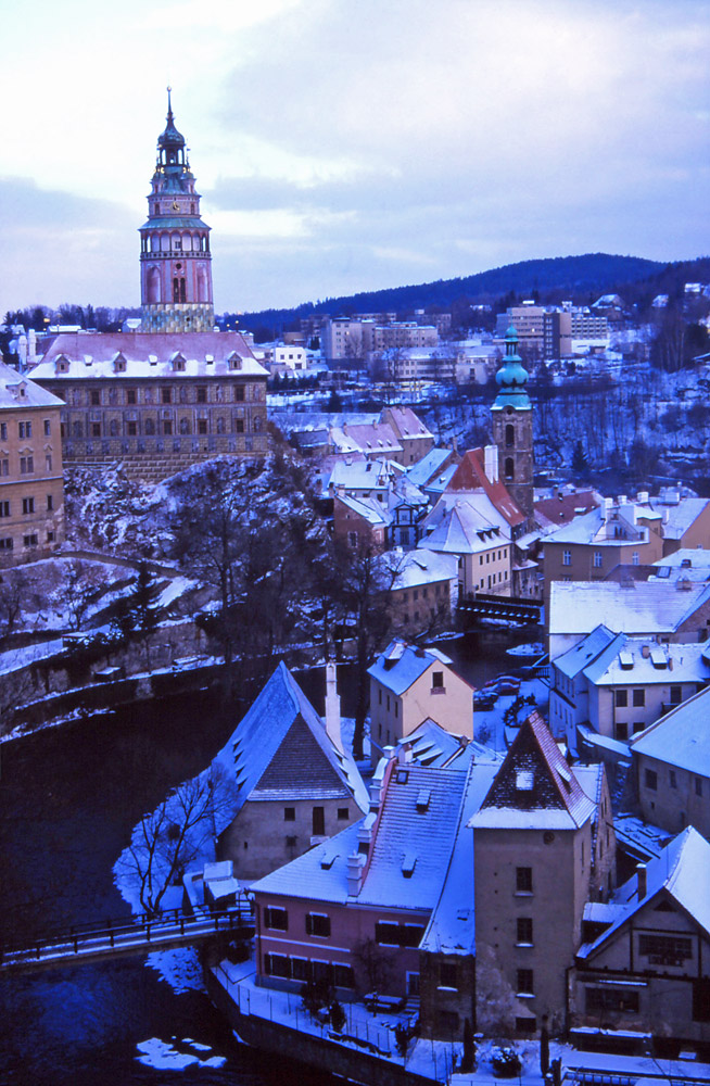 The South Bohemian town of Český Krumlov has changed little since the Middle Ages