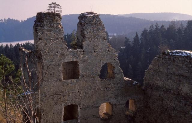 Ruins of the 14th century castle of Dívčí Kámen, South Bohemia