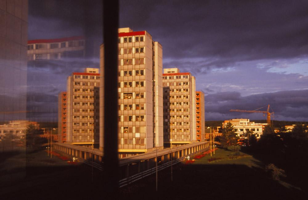 View from my window in the teachers' quarters at the University of South Bohemia, České Budějovice
