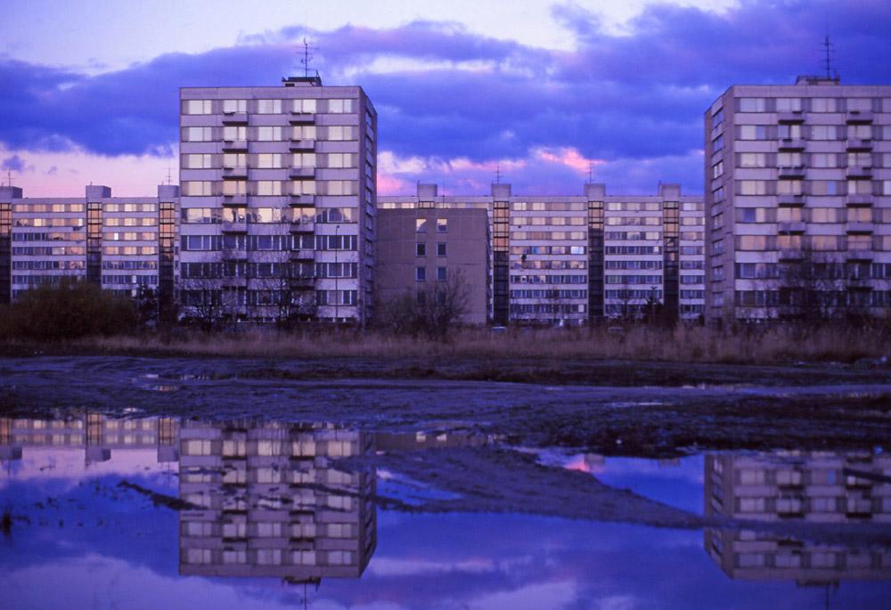 Socialist-era apartment buildings in Máj housing estate, České Budějovice